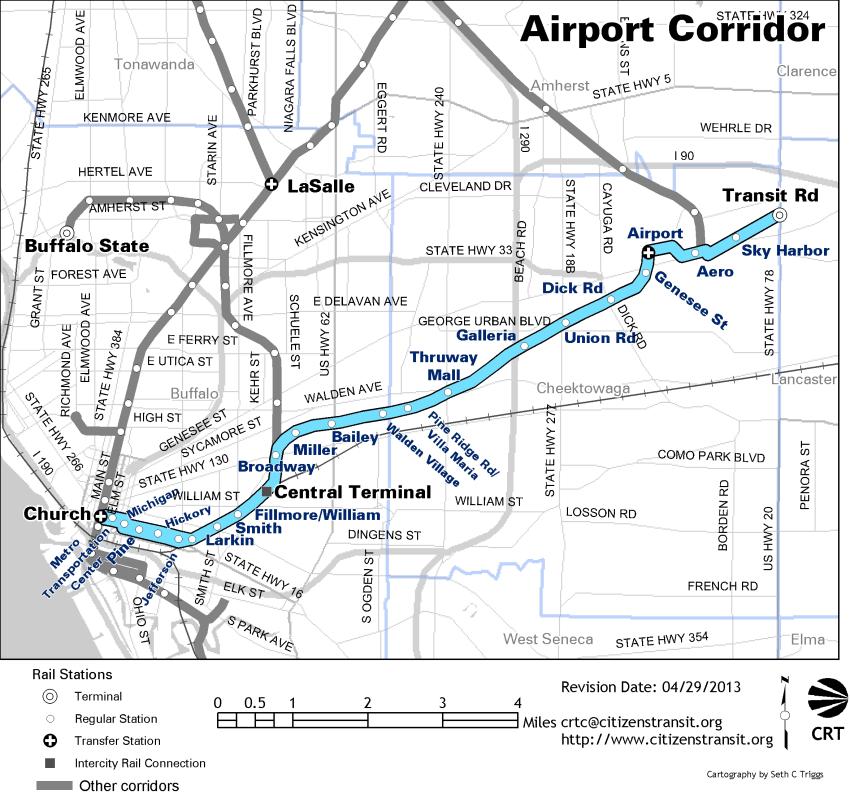 CRTC route map