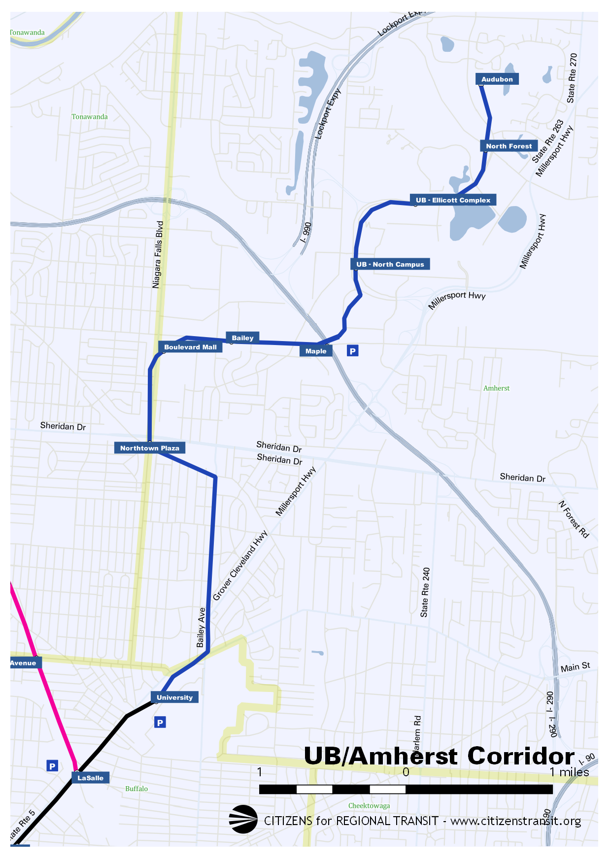 CRT route map