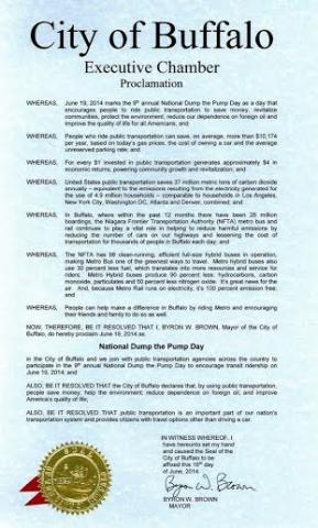 [Dump the Pump Day proclamation scan text - 35KB jpg]